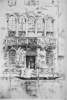 """The Balcony - Venice - by James McNeill Whistler - (Syracuse University Art Collection, viewed as part of An American in Venice: James McNeill Whistler and His Legacy"""" at the Arkell Museum, Canajoharie, NY) Framed Art, Framed Prints, Art Prints, James Abbott Mcneill Whistler, National Gallery Of Art, Art Gallery, Art Database, 3d Max, Art For Art Sake"""
