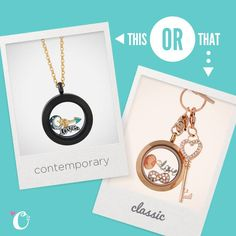Origami Owl wants to know if you are more for the classic or contemporary look? http://www.origamiowl.com