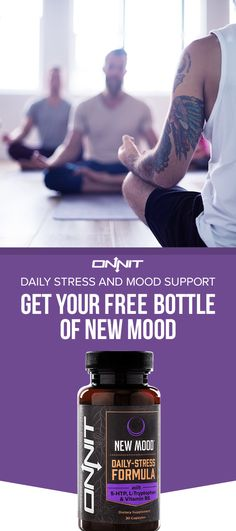 For a limited time only, get your FREE bottle of New MOOD—the supplement from Onnit that's designed to help with healthy mood balance and mental strength reduction. Made with 5-HTP, L-Tryptophan and Vitamin B6—it's like a deep breath and a smile in a bottle. Get yours today.