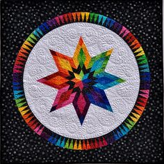 The Rainbow Collection - BeColourful Quilts wall hanging available 11/14