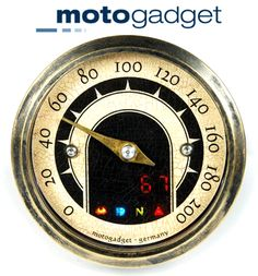 Motogadget Motoscope Tiny MST Vintage Motorcycle Speedometer