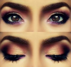for green eyes- copper Violet Eyes