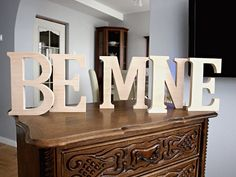 Wooden letters made by WOW