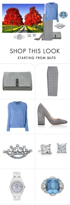 """""""Fall Visit"""" by meesh57 on Polyvore featuring Proenza Schouler, Victoria Beckham, Etro, Gianvito Rossi, Blue Nile, Rolex and Bulgari"""