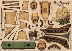 My friend Kirk , from California, send me this model. So here is the Mayflower , a really beautiful vintage model. There are no inscriptio...