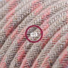 creative cables Fil /Électrique De Large Section 3x1,50 Rond Tissu Effet Soie Noir RM04-20 m/ètres