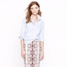 Oxford popover - skirt!