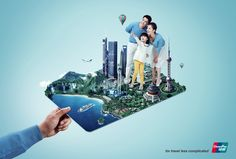 World travel/credit ad banks advertising, online advertising, creative adve Creative Advertising, Banks Advertising, Ads Creative, Advertising Agency, Advertising Poster, Online Advertising, Advertising Design, Creative Business, Banks Ads