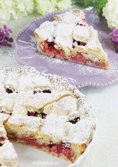 Tarta z rabarbarem. Rhubarb Tart, Sandwiches, Cakes, Food, Pies, Rhubarb Pie, Scan Bran Cake, Kuchen, Pastries