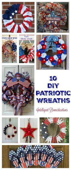 10 DIY Patriotic Wreaths anyone can make