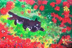 Na louce. Tempera. Vytvořili školáci v našem výtvarném studiu. Tempera, Studios, Painting, Painting Art, Paintings, Painted Canvas, Drawings