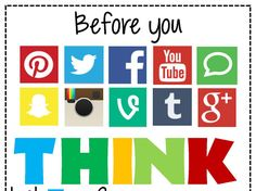 Before You Post: Think 2014 Versions Computer Lab Classroom, Computer Class, Anchor Charts, Science Experiments, Classroom Decor, Google Drive, Bulletin Boards, Teaching, Tool Box