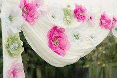 как сделать бумажные цветы для вечеринки - Поиск в Google
