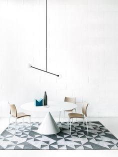 CLAY Tavolo rotondo by Desalto design Marc Krusin