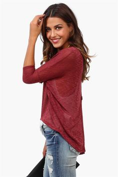 On Point Sweater in Burgundy