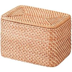 Woven basket for blankets and stuff