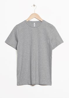 & Other Stories image 1 of Organic Cotton T-shirt in Grey