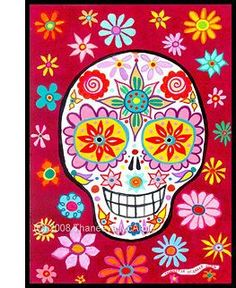 Dia de los Muertos Calavera  from art is fun blog..step by step skull drawings for little kids