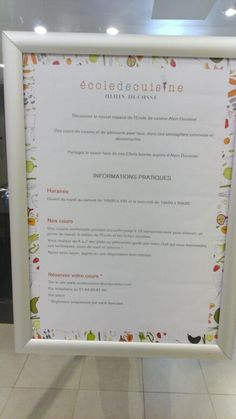 École de cuisine Alain Ducasse au BHV Marais
