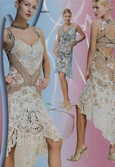 Ribbon Lace Stylish Crochet Patterns Dress by RussianCrochetBooks, $13.90