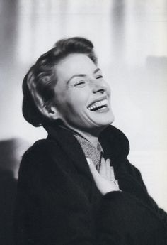 "fletchingarrows:  misshayworth5:  ""Happiness is good health and a bad memory."" Ingrid Bergman  her beautiful smile! i adore her."