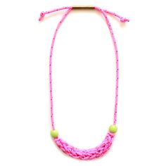 Neon Braided Necklace, www.babasouk.ca