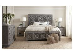 Beaumont Queen Bedroom Group by Hooker Furniture at Suburban Furniture Dream Master Bedroom, Queen Bedroom, Bedroom Sets, Bedroom Decor, Pretty Bedroom, Bedroom Simple, Gray Bedroom, Bedrooms, Hooker Furniture