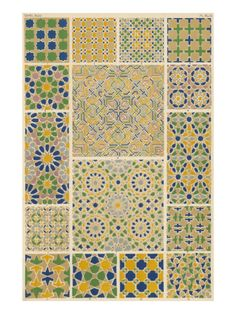 Mosaic Designs from Alhambra