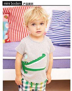 Summer Toddler Kid Boy Crocodile Pants Sets