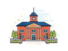 College Illustration for Education Website
