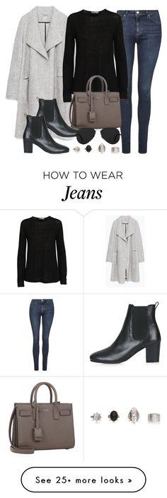 """Style #9410"" by vany-alvarado on Polyvore featuring Topshop, Zara, T By Alexander Wang, Yves Saint Laurent and Ray-Ban"