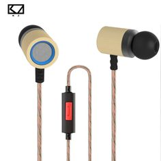 Original KZ ED7 Bamboo Wood Earphones with Microphone 3.5mm HD HiFi In Ear Monitor Bass Stereo Earbuds for Phone PC Tablet