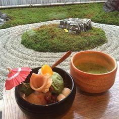 京都 天龍寺パフェ