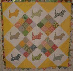 Baby basset hound quilt