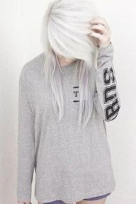 white blonde hair with lavender ugh I wish I could pull this off!