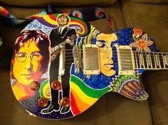 Custom acoustic John Lennon Guitar #acousticguitars #uniqueguitars #JohnLennon #guitars #music #instruments