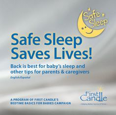 Safe Sleep Saves Lives! Click through to view this lifesaving information to help parents and caregivers protect their babies from SIDS, suffocation and accidents during sleep.