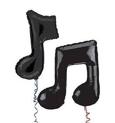 Simple Music Note Mylar Balloons make a large impact on any party. Our black music note mylar balloons are 36 inches.