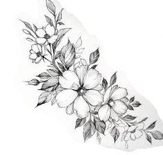 Unique Half Sleeve Tattoos, Feminine Tattoo Sleeves, Feminine Tattoos, Sleeve Tattoos For Women, Unique Women Tattoos, Tatoo Floral, Floral Tattoo Design, Flower Tattoo Designs, Flower Tattoos