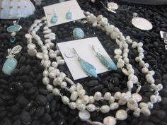 A selection of pearls & larimar