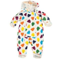 POLARN O. PYRET RAINBOW IMP PRINT WINDFLEECE BUNTING - 4-6 months/Stockholm Polarn O. Pyret. $89.00
