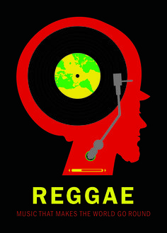 A collaboration between Ronald J. Cala II. and myself. Poster design created for the International Reggae Competition, 2013