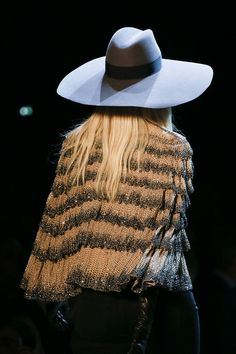 cape and hat: Hedi Slimane for Saint Launtrent ss13