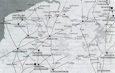 het Romeinse heerwegennet in Noord-Gallië en Germania Inferior, 1ste eeuw na Chr.