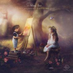 Siblings love by CindysArt.deviantart.com on @DeviantArt