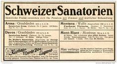 Original-Werbung/Inserat/ Anzeige 1928 - SCHWEIZER SANATORIEN  - ca. 65 x 140 mm