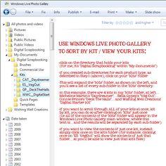 WWC__tutorials__organizing digital images using Windows Live Photo Gallery