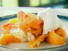Easy Peach Cobbler from Trisha Yearwood via FoodNetwork.com  This is a family recipe of ours as well, my mother-in-law makes it often.  yum.