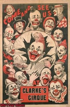 vintage clowns   vintage circus poster rating 3 5 more clowns by clowninator