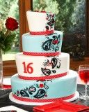 Sweet Sixteen Cake from Carries Cakes